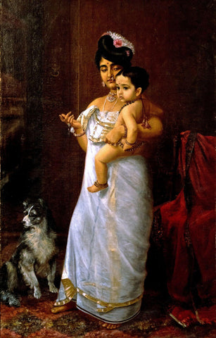 There Comes Papa - Raja Ravi Varma - Indian Painting by Raja Ravi Varma