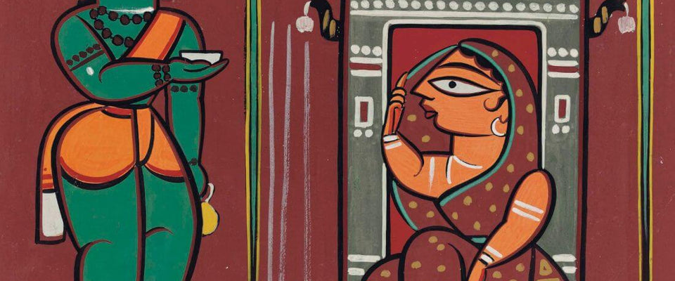 Ram And Sita - Jamini Roy by Jamini Roy | Buy Posters, Frames, Canvas  & Digital Art Prints