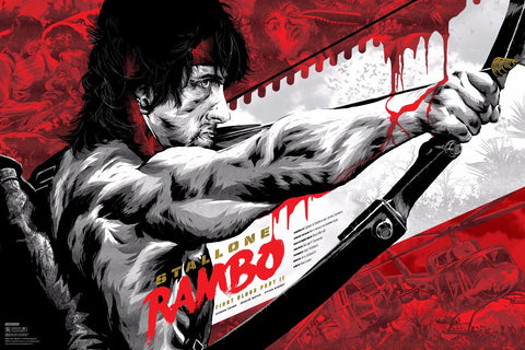 Tallenge Hollywood Collection - Movie Poster - Rambo-First-Blood-Part-II-Variant-Edition-by-Anthony-Petrie
