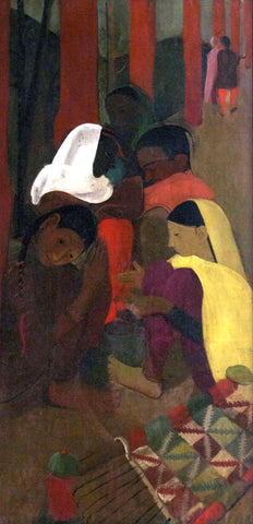 Red Verandah - Amrita Sher-Gil - Famous Indian Art Painting by Amrita Sher-Gil