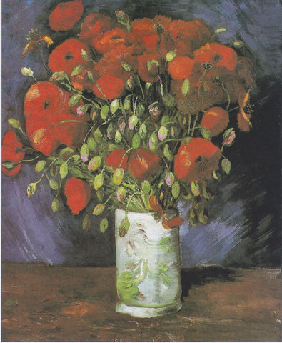 Vase with Red Poppies - Posters