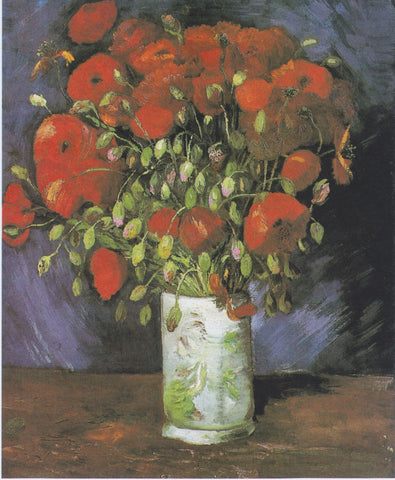 Vase with Red Poppies by Vincent Van Gogh