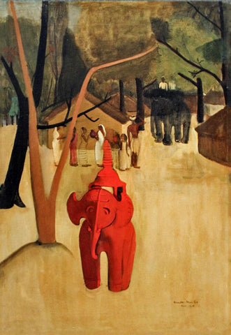 Red Clay Elephant by Amrita Sher-Gil
