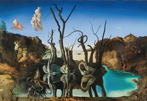 Salvador Dali – Swans Reflecting Elephants