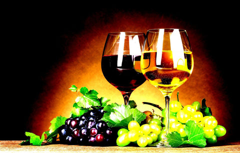 Refreshing Wine And Grapes - Canvas Prints