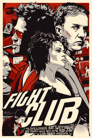 Retro Art - Fight Club Poster - Hollywood Collection