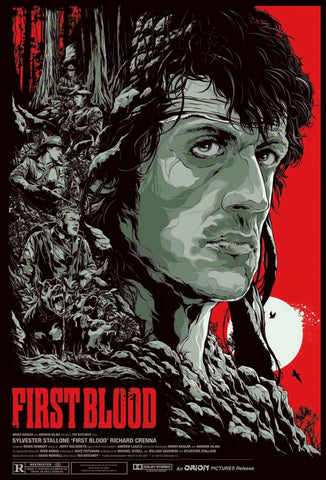 Retro Art - First Blood Poster - Hollywood Collection - Art Prints