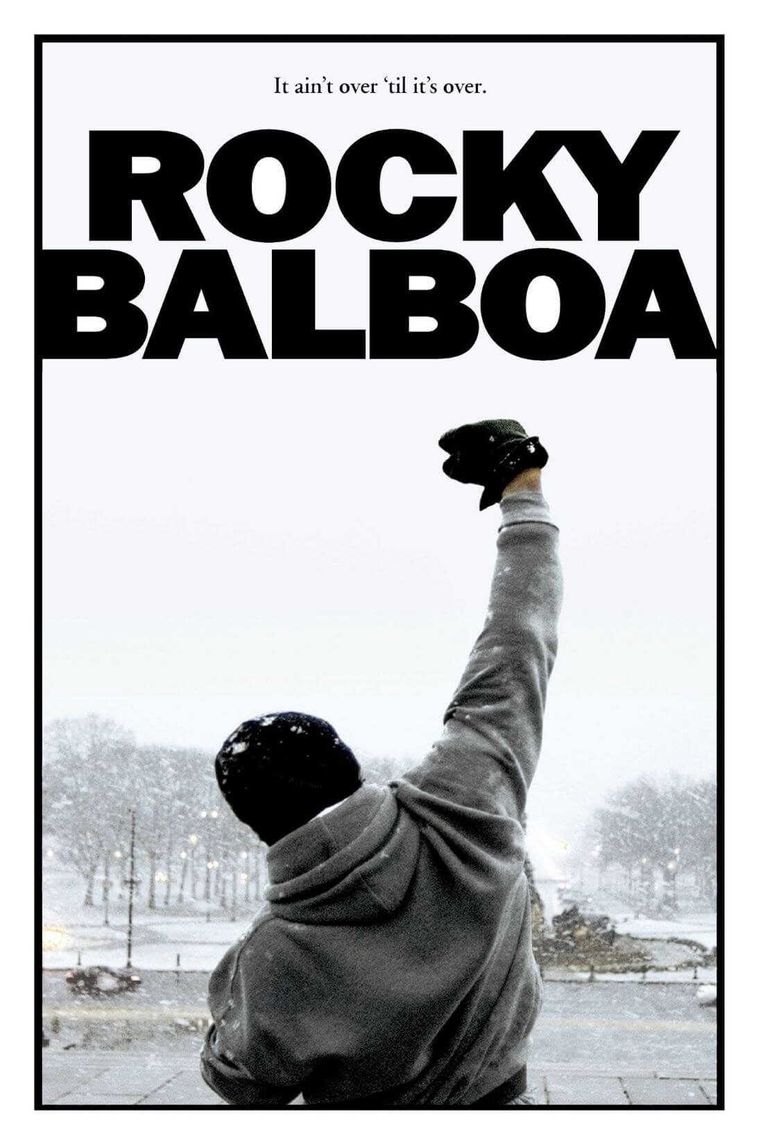 Hollywood Art Poster Rocky Quote It Aint Over Till Its Over