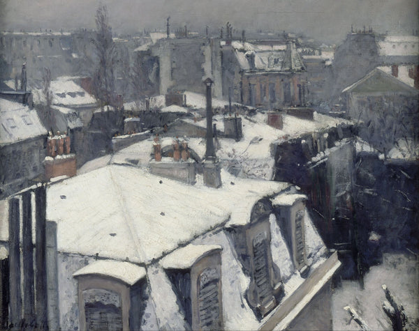 Rooftops in the Snow - Framed Prints