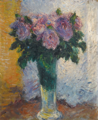 Roses dans un vase - Canvas Prints