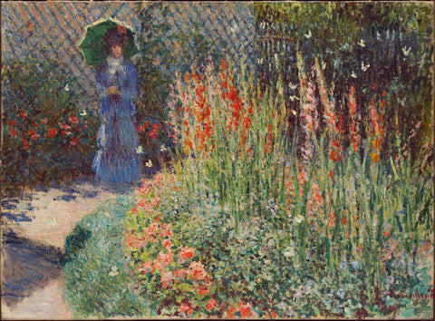 Rounded Flower Bed (Corbeille de fleurs) 1876 - Claude Monet