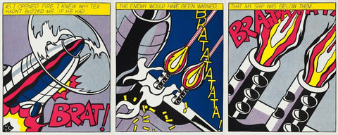 As I Opened Fire - Roy Lichtenstein