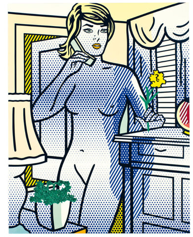 Roy Lichtenstein - Naked With Yellow Flower