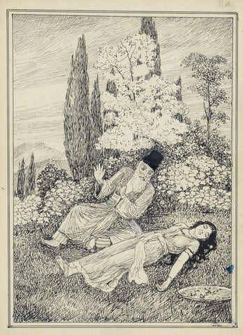 Rubaiyat Of Omar Khayyam 3 - M V Dhurandhar - Indian Masters Artwork by M. V. Dhurandhar