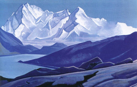 Sacred Himalayas -  Nicholas Roerich Painting –  Landscape Art by Nicholas Roerich