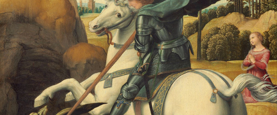 Saint George and the Dragon by Raphael | Buy Posters, Frames, Canvas  & Digital Art Prints