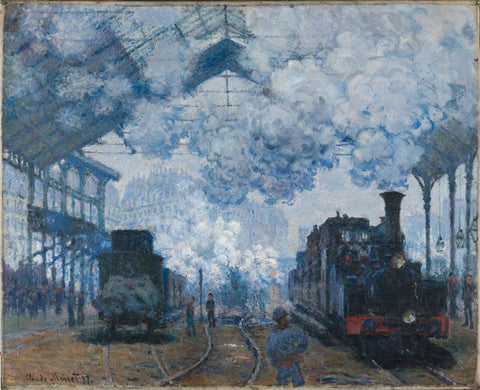 Saint Lazare Station In Paris, Arrival Of A Train