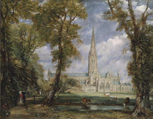 Salisbury Cathedral From The Bishop's Garden - Posters