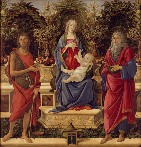 Madonna with Saints John the Baptist and Giovanni evangelista