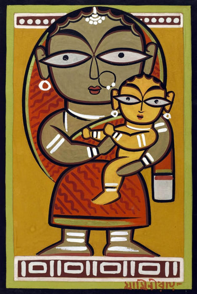Santhal Mother and Child - Large Art Prints
