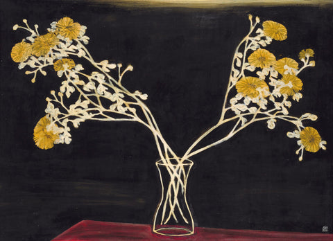 Chrysanthemums In A Glass Vase, 1950