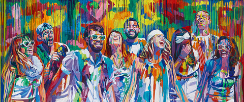 People In The Colorful Rain by Christopher Noel
