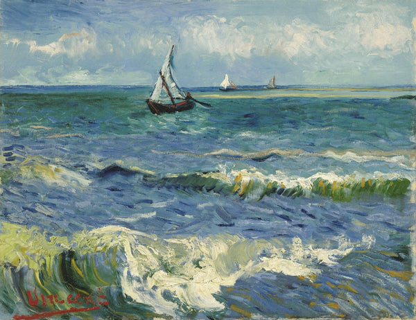 Artwork of Seascape Near Les Saintes-Maries-De-La-Mer by Vincent Van Gogh