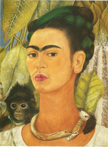 Self Portrait With Monkey II by Frida Kahlo