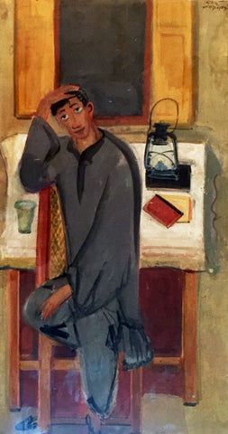 Self Portrait - Benode Behari Mukherjee - Bengal School Indian Painting