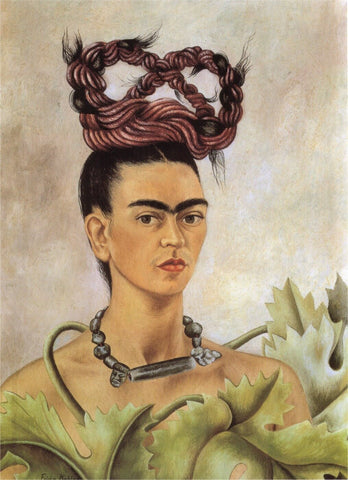 Self Portrait With Braided Hair by Frida Kahlo