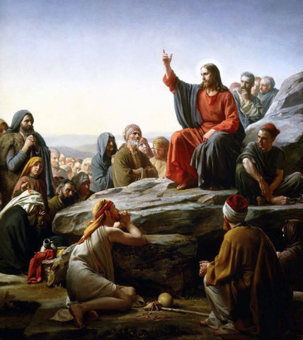 Sermon On The Mount – Carl Heinrich Bloch - Jesus Christ - Christian Art Painitng