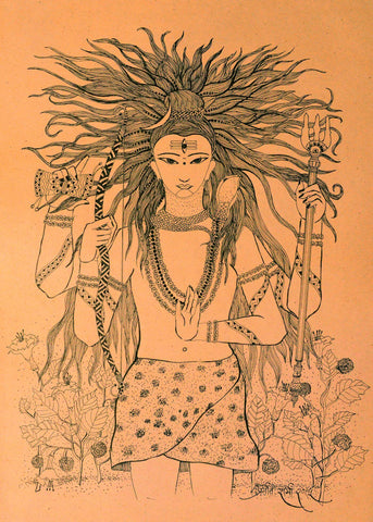 Lord Shiva by Mahesh