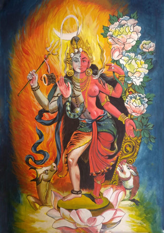 Shiva As Ardhanarishvar Painting