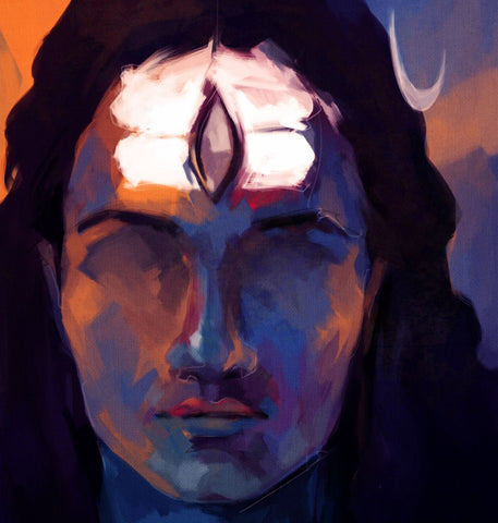 Shiva Meditating Painting by Sina Irani