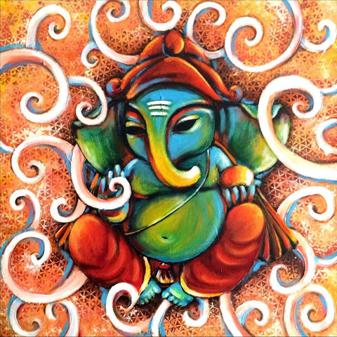 Shri Ganesh Contemporary Ganapati Painting