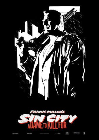 Sin City - A Dame to Kill For - Mickey Rourke - Robert Rodriguez Hollywood Movie Poster