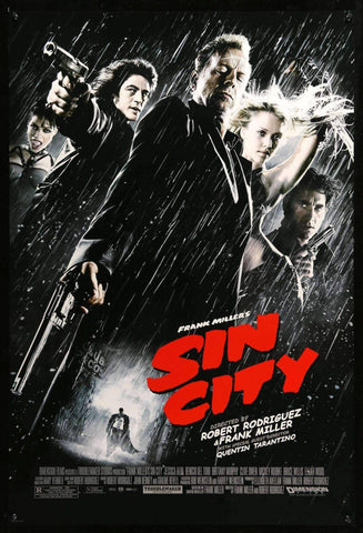 Sin City - Robert Rodriguez Hollywood Movie Poster
