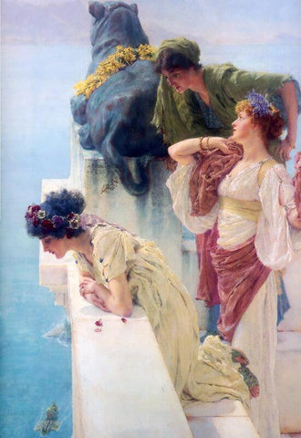 A Coin Of Vantage - Posters by Sir Lawrence Alma-Tadema