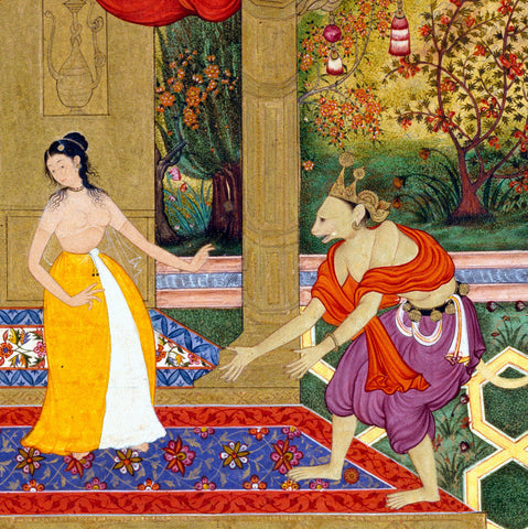 Sita Shies Away from Hanuman, Believing He is Ravana in Disguise