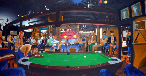 Snooker At Bar by Deepak Tomar