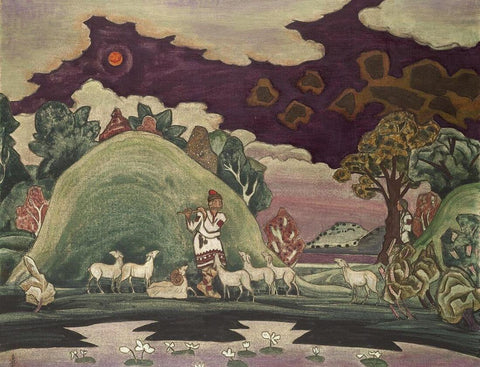 Song Of Lel -  Nicholas Roerich Painting –  Landscape Art by Nicholas Roerich
