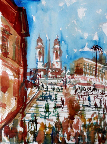 Spanish Steps in Rome - Tallenge Abstract Landscape Painting