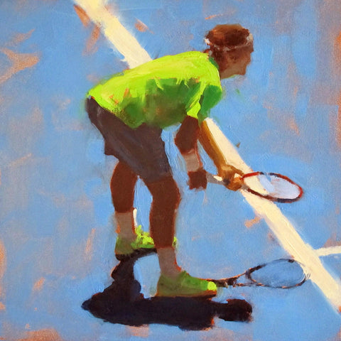 Spirit Of Sports - Abstract Painting - Tennis - Roger Federer