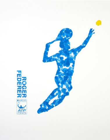 Spirit Of Sports - Abstract Painting - Tennis Great - Roger Federer