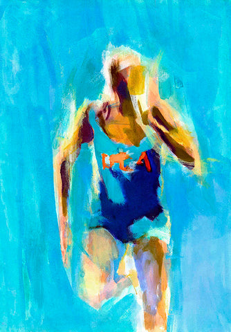 Spirit Of Sports - Abstract Painting - The Athlete