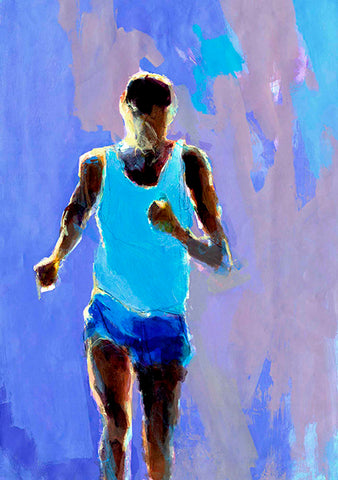 Spirit Of Sports - Abstract Painting - The Runner