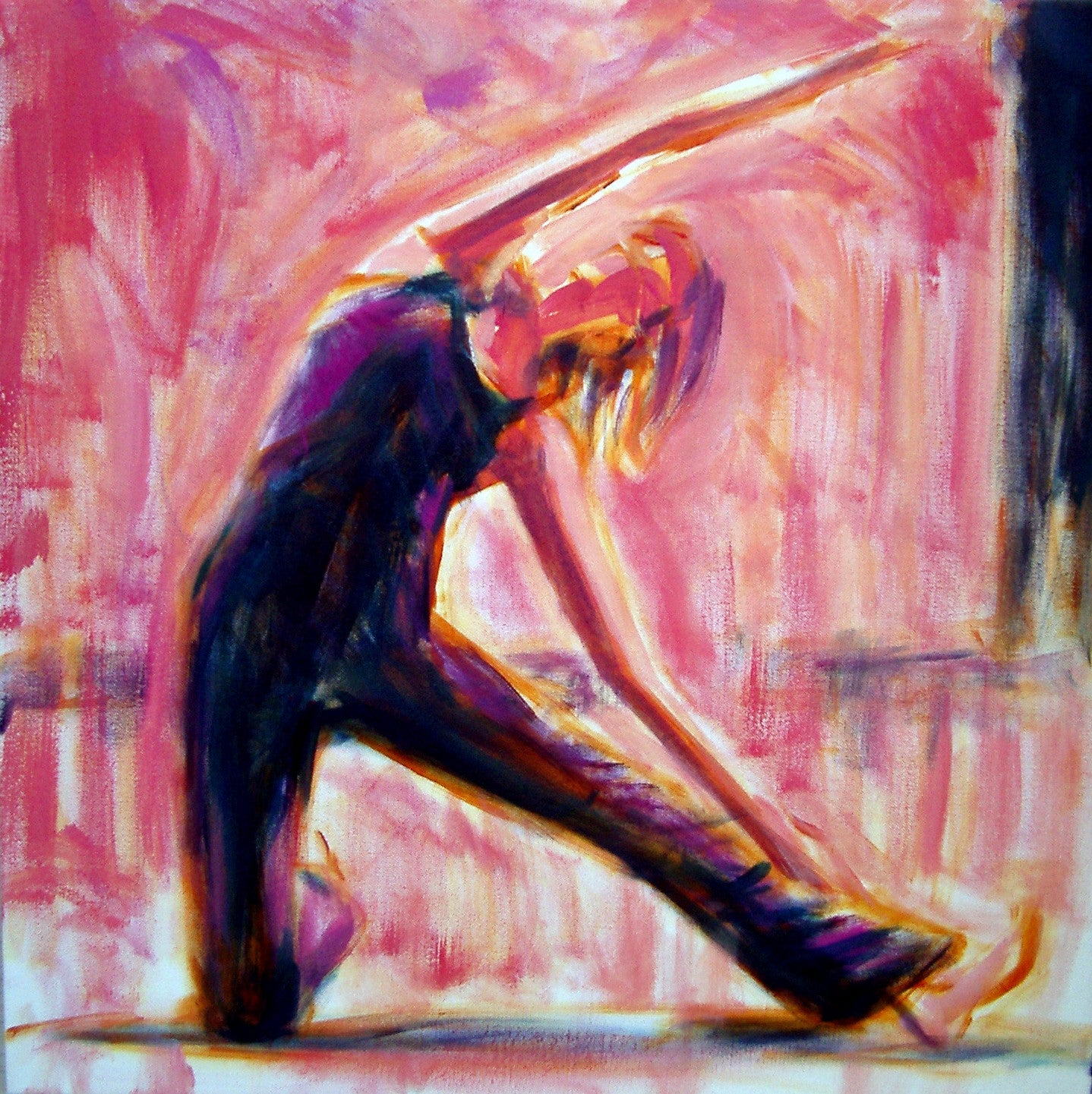 Spirit of sports abstract painting yoga pose 1 posters