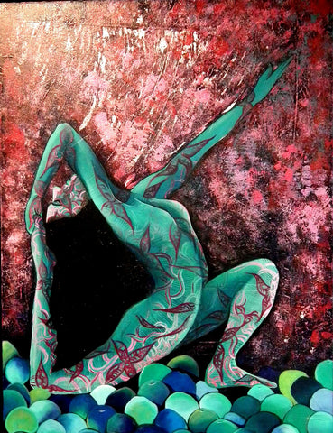 Spirit Of Sports - Abstract Painting - Yoga Pose 3