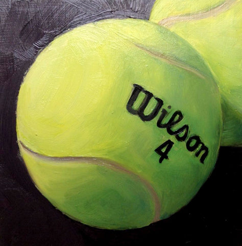 Spirit Of Sports - Hyperrealistic Painting - Tennis - Wilson