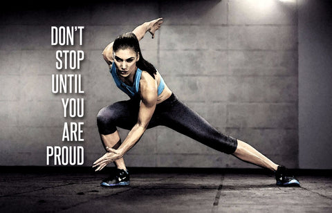 Spirit Of Sports - Motivational Poster - Dont Stop Until You Are Proud